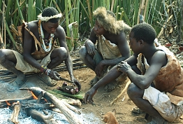 Making Fire, bushmen