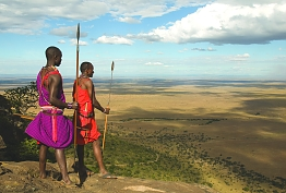 Walking Maasai