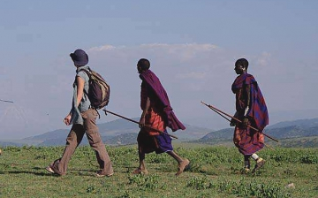 Walking in Ngorongoro Highlands