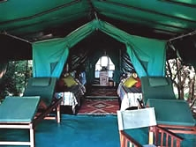 Tented camp in ruaha national park