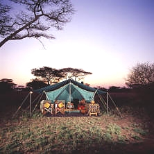 Tented camp in mikumi national park